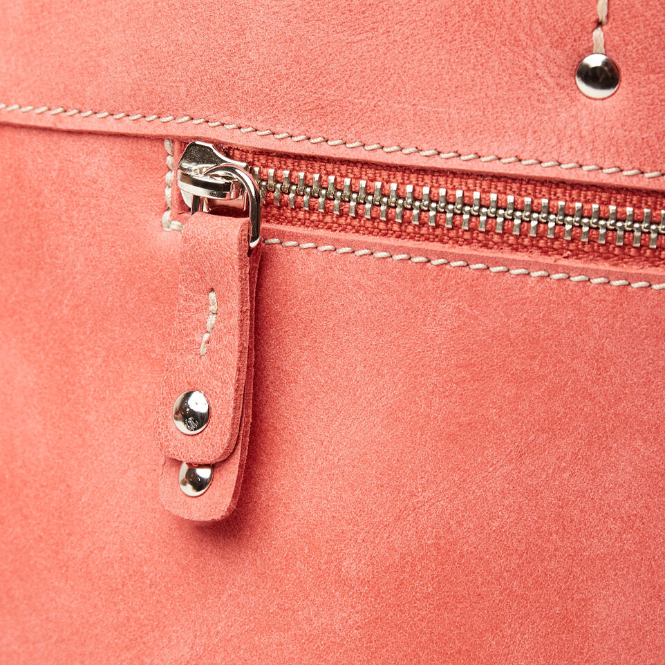 Roots-Leather Categories-Westmount Tote Tribe-Coral-E