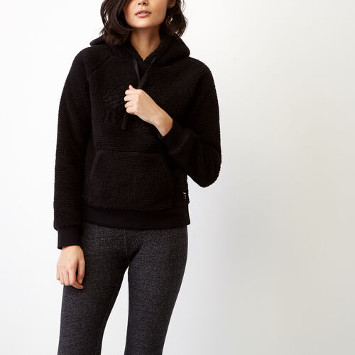 Roots-Women Our Favourite New Arrivals-Sherpa Hoody-Black-A