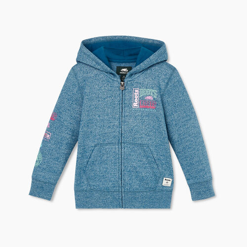 Roots-Kids Toddler Girls-Toddler Stacked Full Zip Hoody-Moroccan Blue Pepper-A