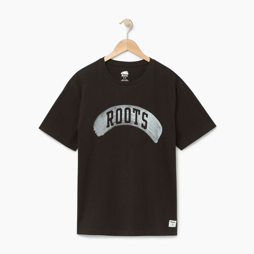 Roots-Men Our Favourite New Arrivals-Mens Brushed Arch T-shirt-Black-A