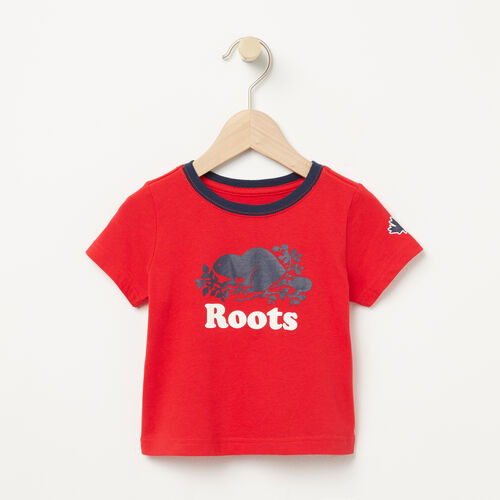 Roots-Sale Baby-Baby Cooper Ringer T-shirt-Racing Red-A