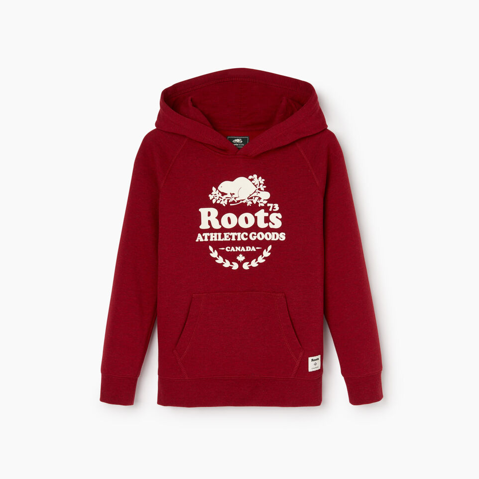 Roots-Kids Boys-Boys Laurel Hoody-Cabin Red Mix-B