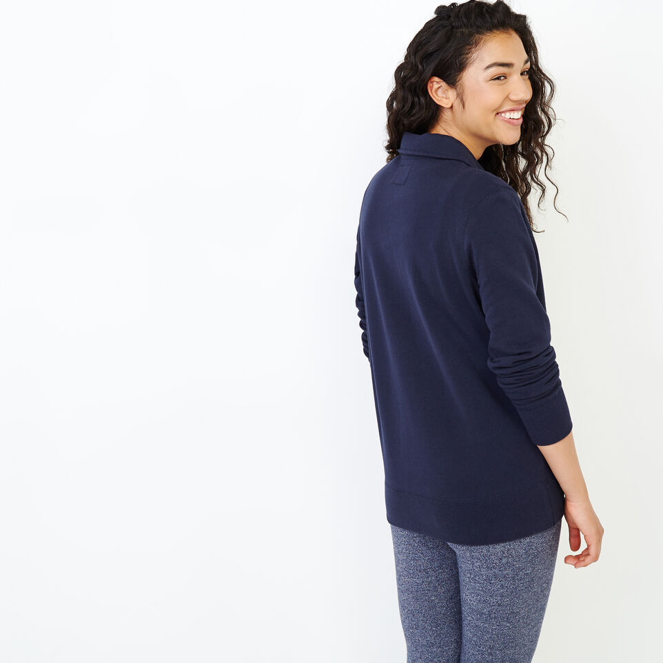 Roots-Women Our Favourite New Arrivals-Original Zip Polo-Navy Blazer-D
