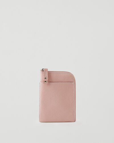 Roots-Leather Tech & Travel-Passport Phone Pouch Cervino-Pink Pearl-A