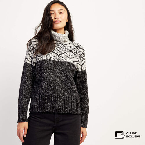Roots-Women Sweaters & Cardigans-Snowy Fox Intarsia Sweater-Snowy Fox-A