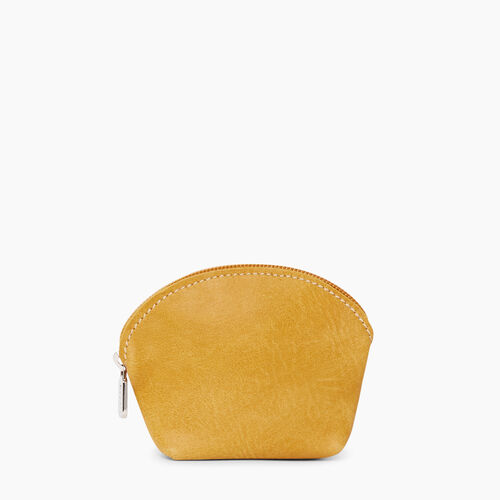 Roots-Leather Leather Accessories-Small Euro Pouch Tribe-Sunset Yellow-A