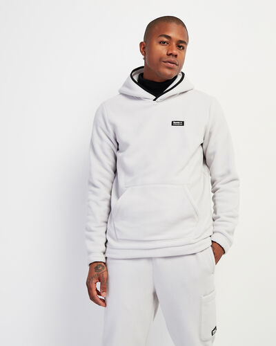 Roots-Men Sweatshirts & Hoodies-Polartec® x Roots Journey Kanga Hoody-Vapour Grey-A