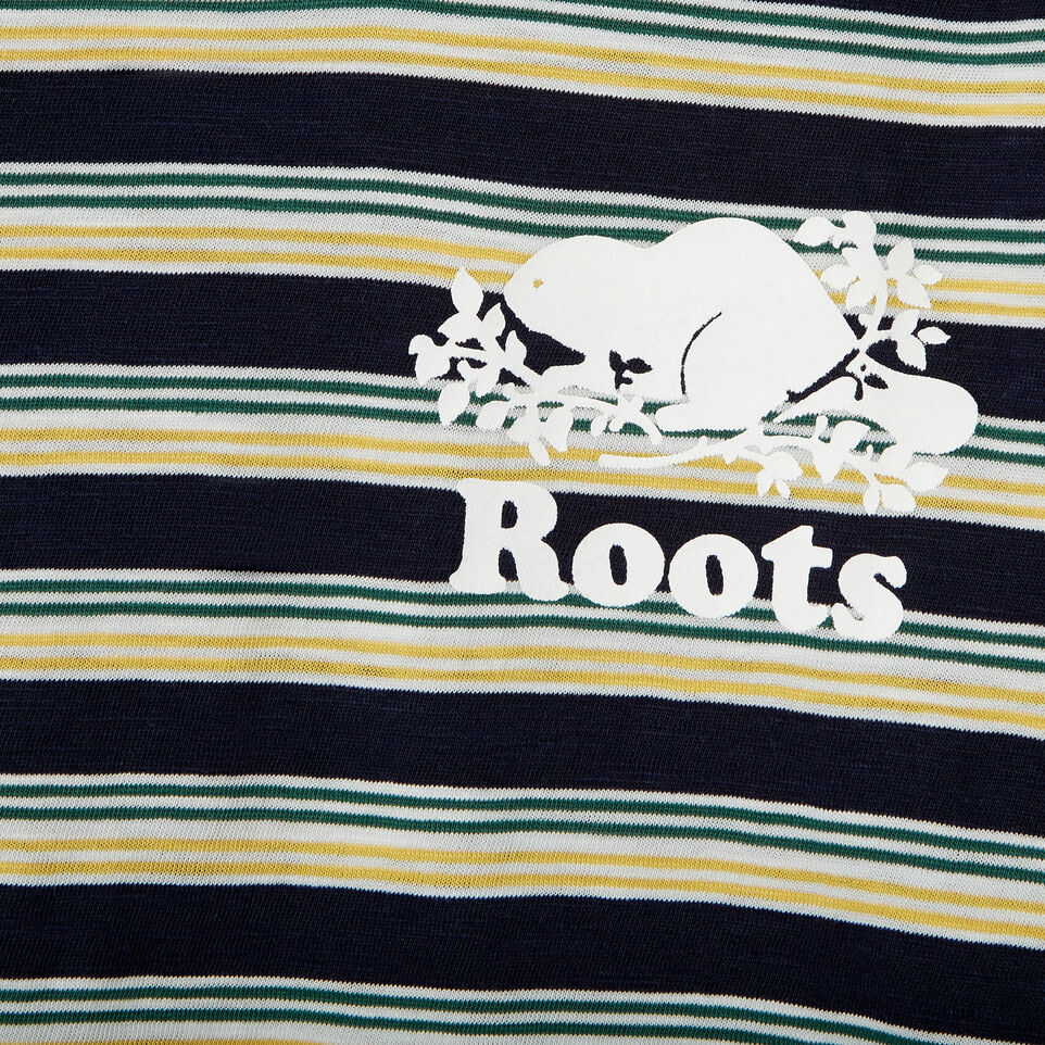 Roots-Kids Our Favourite New Arrivals-Boys Cooper Stripe T-shirt-Navy Blazer-D