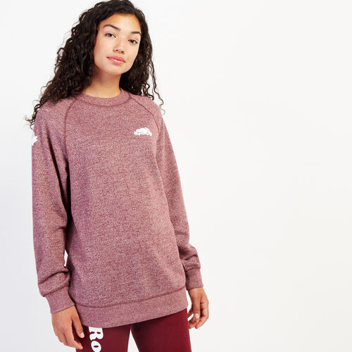 Roots-Women Bestsellers-Remix Crew Sweatshirt-Mulberry Pepper-A
