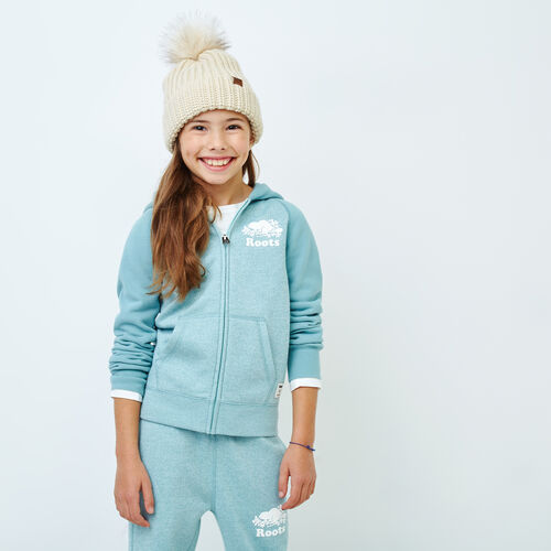 Roots-Kids Our Favourite New Arrivals-Girls Original Full Zip Hoody-Mineral Blue-A
