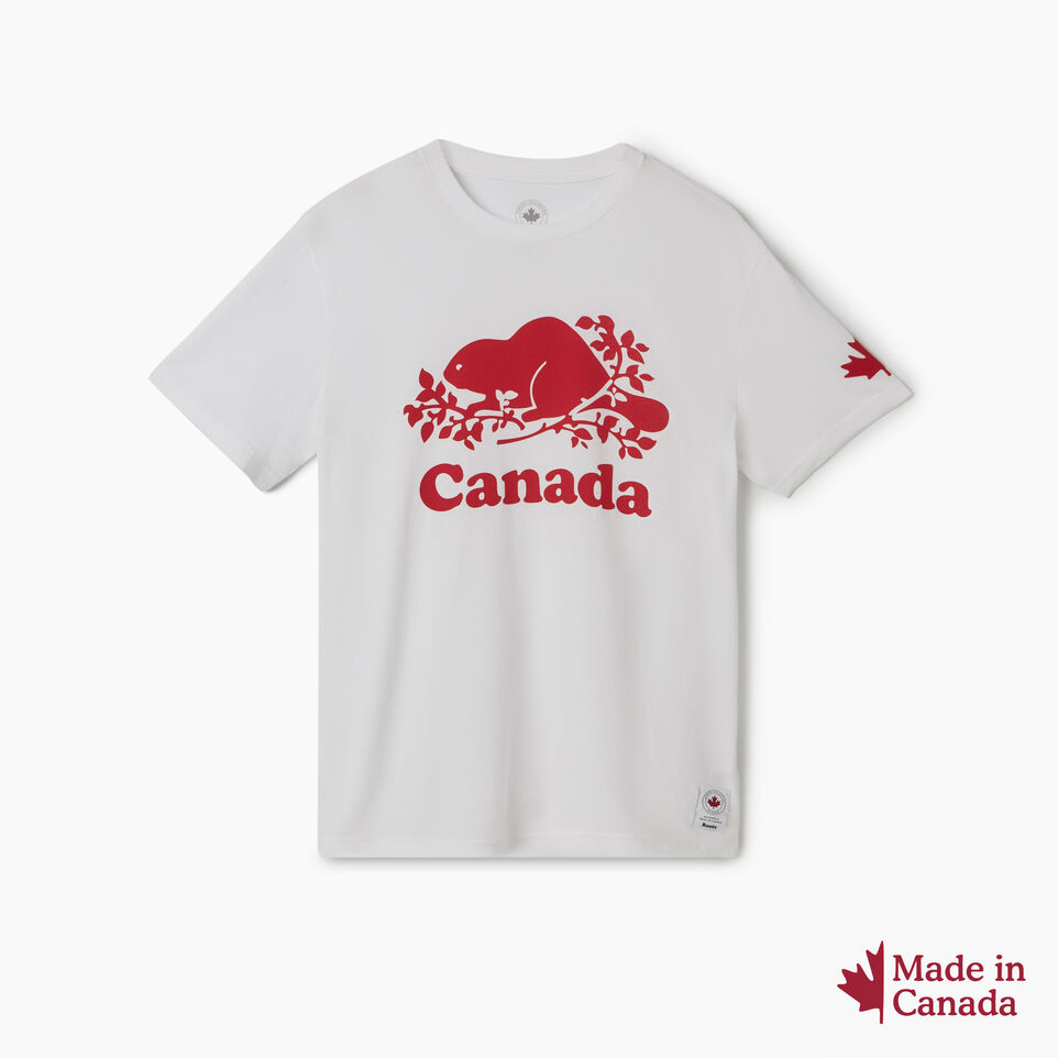 Roots-New For July Men-Mens Cooper Canada T-shirt-White-A