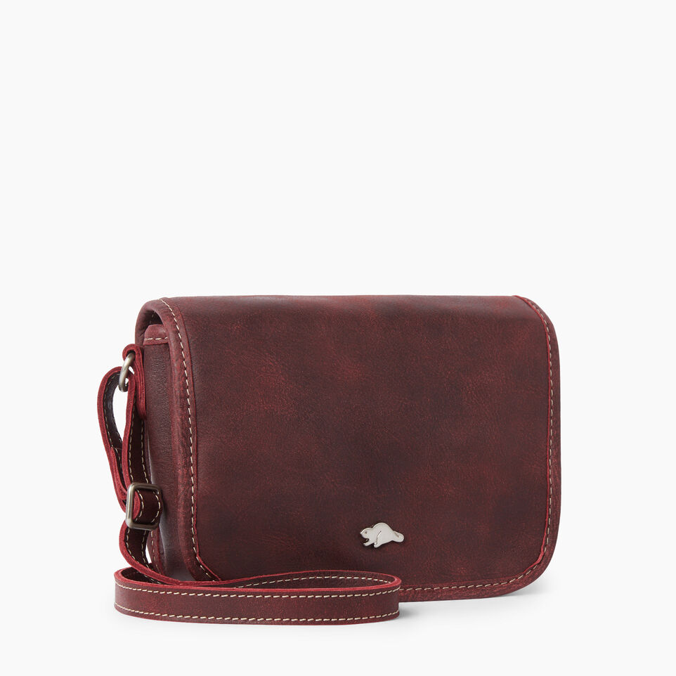 Roots-Clearance Leather-Angelina Bag Tribe-Crimson-A