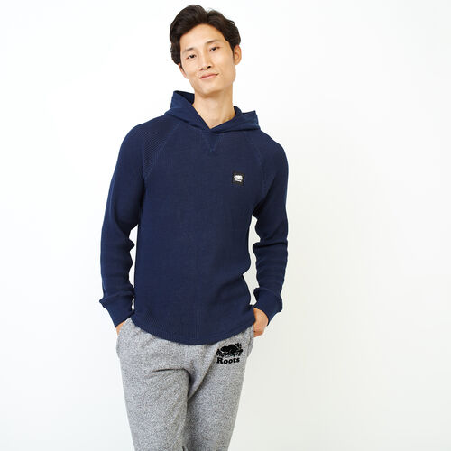 Roots-Men Long Sleeve Tops-Banff Two Tone Hoody-Navy Blazer-A
