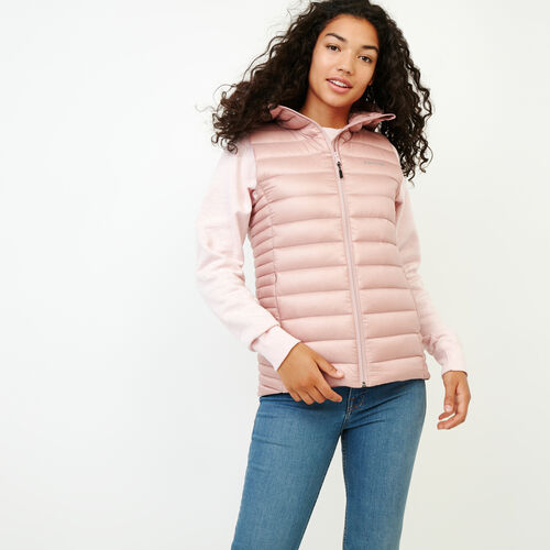 Roots-Women Outerwear-Roots Slim Packable Vest-Pink-A