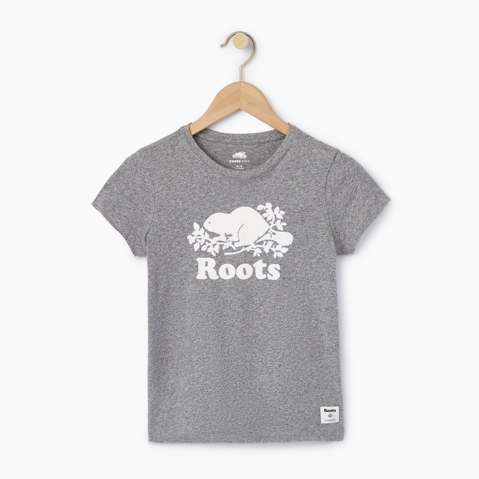 Roots-undefined-Girls Original Cooper Beaver T-shirt-undefined-A