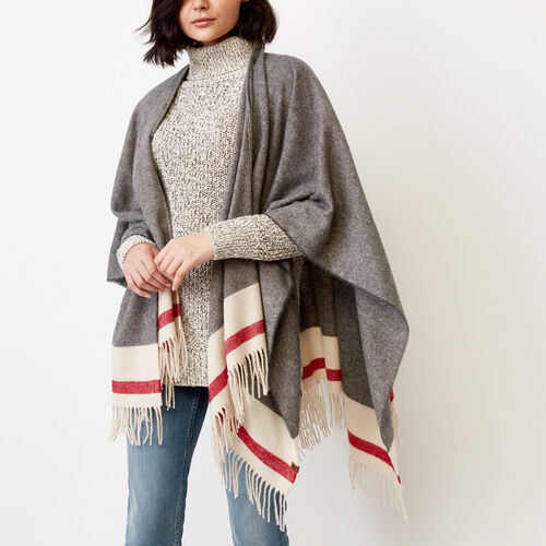 Roots-Women Our Favourite New Arrivals-Roots Cabin Wrap-Grey Oat Mix-A