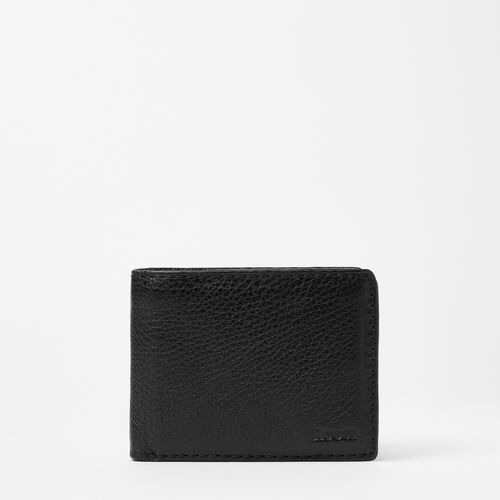 Roots-Leather  Handcrafted By Us Wallets-Mens Slimfold Wallet With Side Flap Prince-Black-A