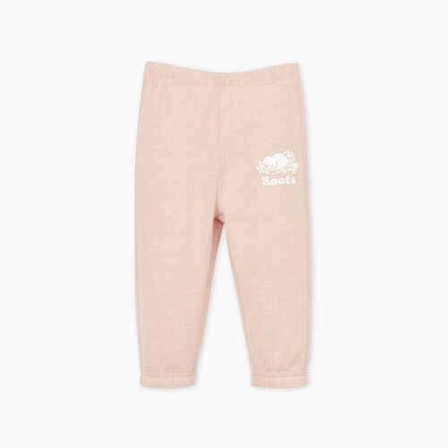 Roots-Kids Baby Girl-Baby Original Roots Sweatpant-Pale Mauve Pepper-A