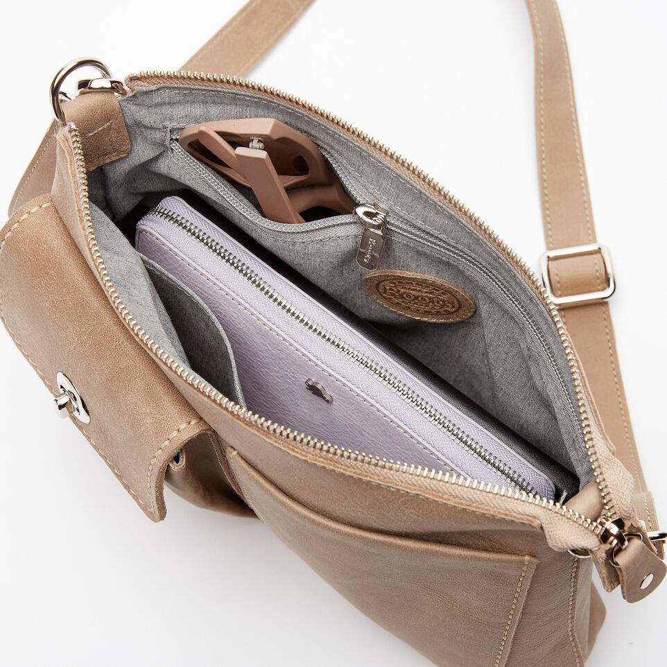 Roots-Leather Handbags-The Villager Tribe-Sand-E