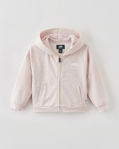 Roots-Sweats Toddler Girls-Toddler Woodland Full Zip Hoody-Pale Mauve Mix-A