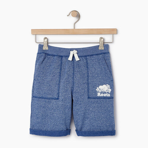Roots-Clearance Kids-Boys Park Short-Active Blue Pepper-A