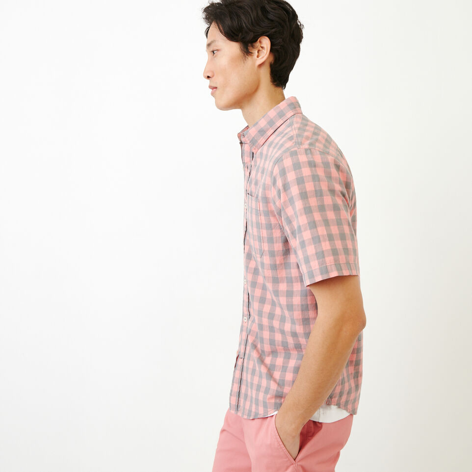 Roots-Men Our Favourite New Arrivals-White Pine Short Sleeve Shirt-Sunset Apricot-C