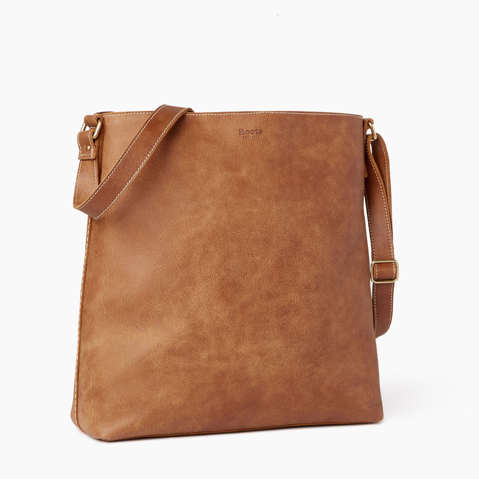Roots-Leather Handbags-Rideau Bag-Natural-C