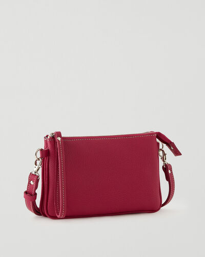 Roots-Leather New Arrivals-Twinsie Bag Parisian-Magenta-A