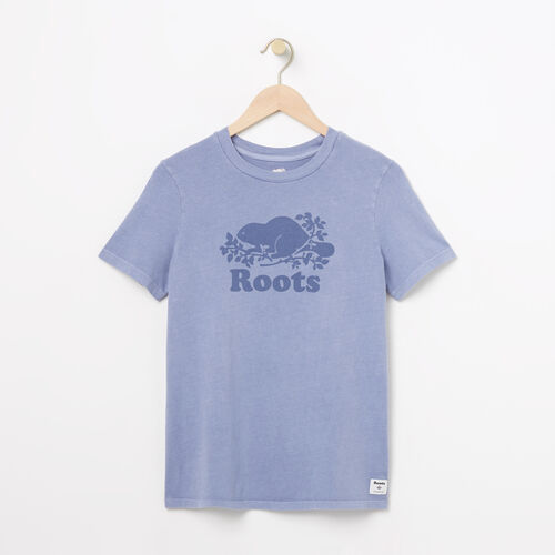 Roots-Women Graphic T-shirts-Womens Cooper Pigment T-shirt-Infinity-A