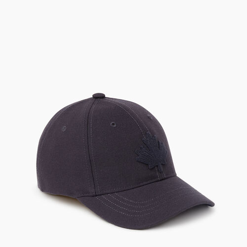 Roots-Kids Accessories-Kids Leaf Baseball Cap-Navy-A