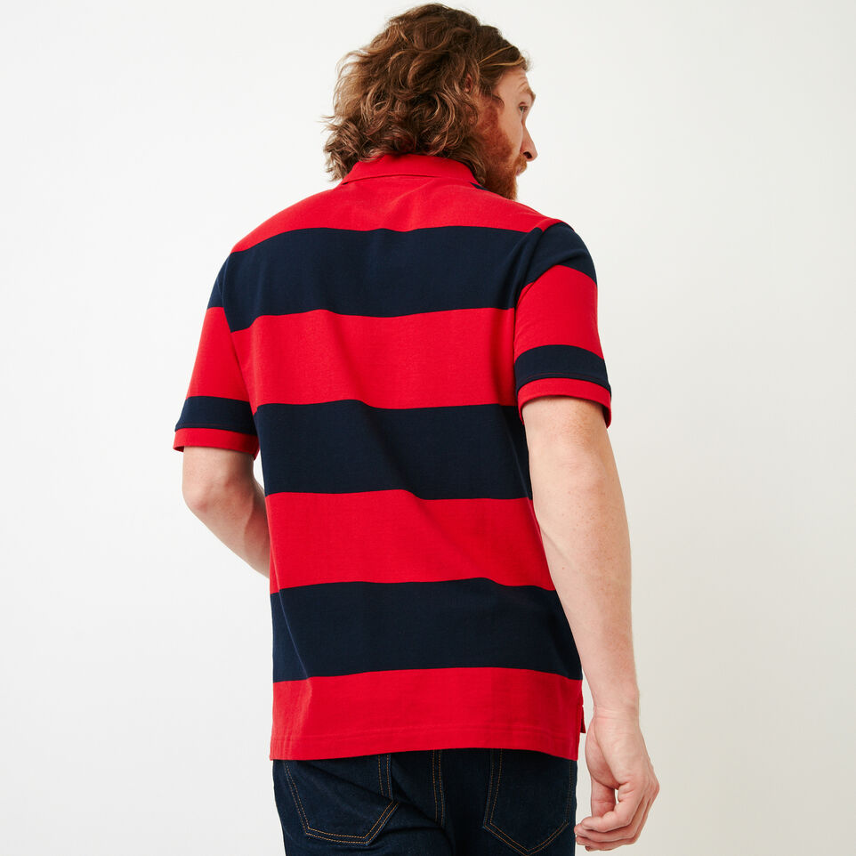 Roots-Men Categories-Heritage Striped Pique Polo-Racing Red-D