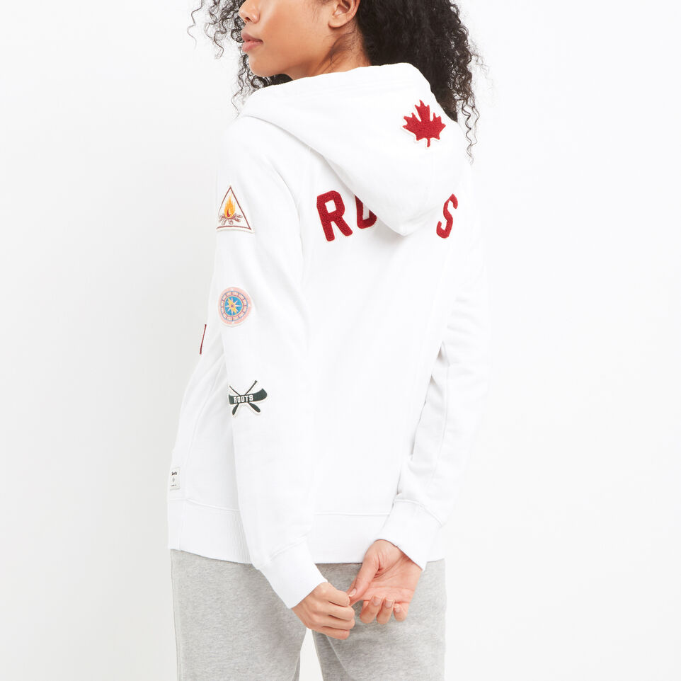 Roots-undefined-Camp Patches Full Zip Hoody-undefined-D