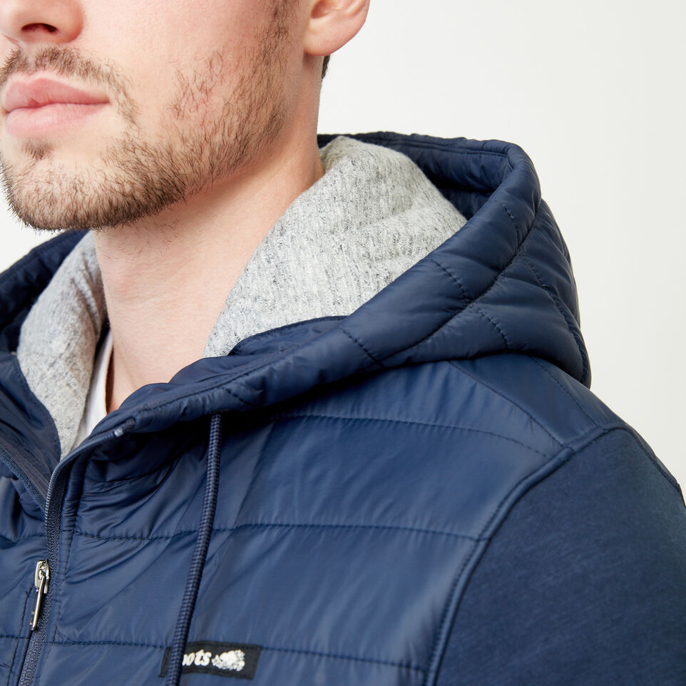 Roots-Men Categories-Roots Hybrid Hooded Jacket-Navy Blazer-E