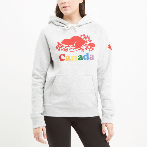 Roots-New For July Canada Collection By Roots™-Womens Cooper Canada Kanga Hoody-Snowy Ice Mix-A