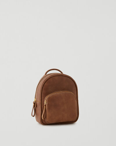 Roots-Leather Backpacks-Mini Chelsea Pack Tribe-Natural-A