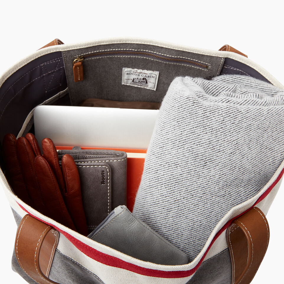 Roots-Women General Store-Cabin Tote-Grey Oat Mix-D