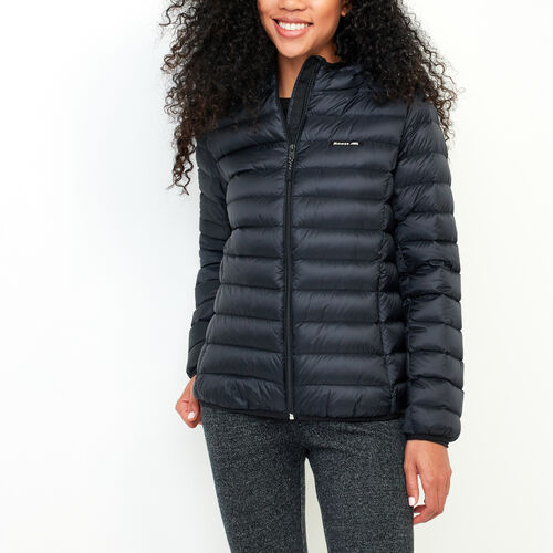 Roots-Women Jackets-Roots Packable Down Jacket-Black-A