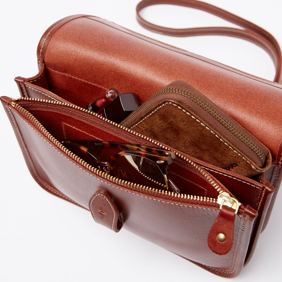 Roots-Winter Sale Leather-Sandys Bag Heritage-Oak-E