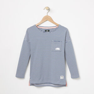 Roots-Sale Girls-Girls Ava Stripe Top-Ensign Blue-A