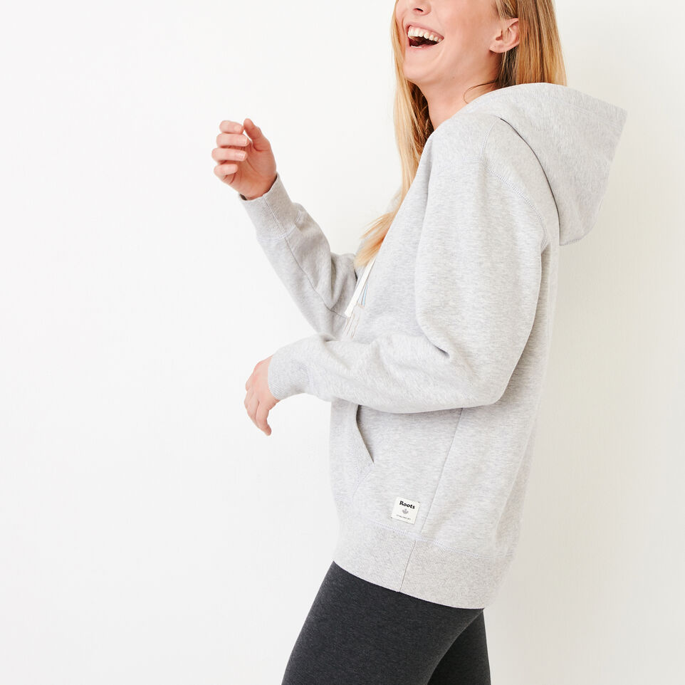 Roots-Women Our Favourite New Arrivals-United Hoody-Snowy Ice Mix-C