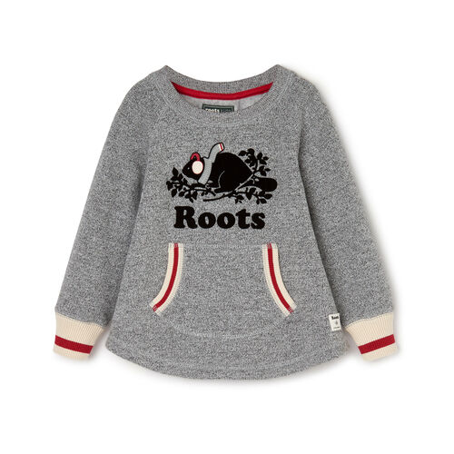 Roots-Clearance Kids-Toddler Buddy Cozy Fleece Pullover-Salt & Pepper-A