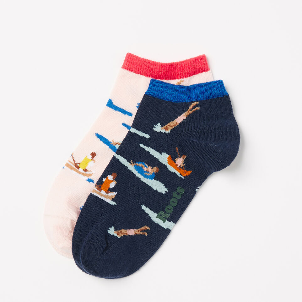 Roots-undefined-Womens Lake Life Ped Sock 2 Pack-undefined-D