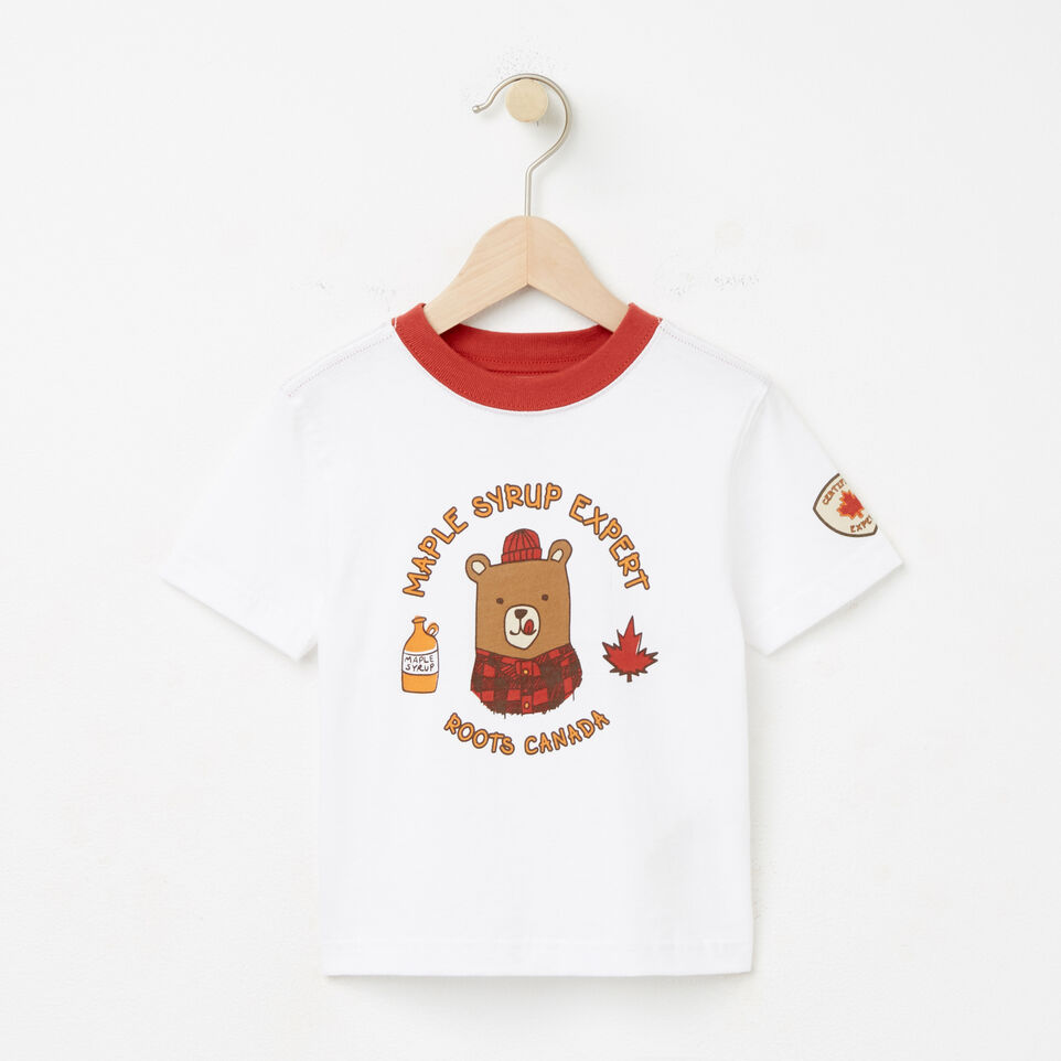 Roots-undefined-Tout-Petits Maple Syrup Expert T-shirt-undefined-A