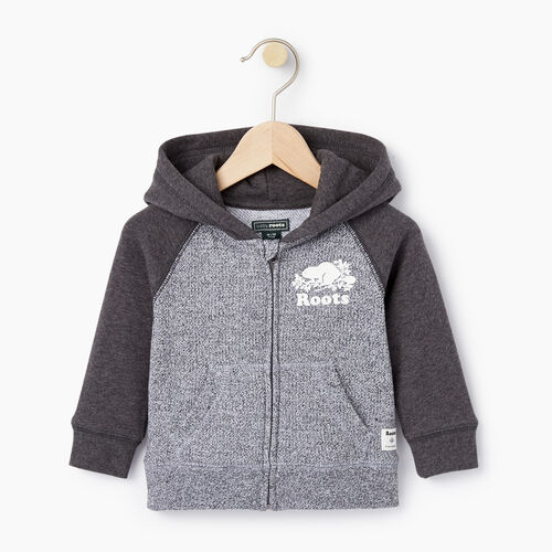 Roots-Kids Categories-Baby Original Full Zip Hoody-Charcoal Mix-A