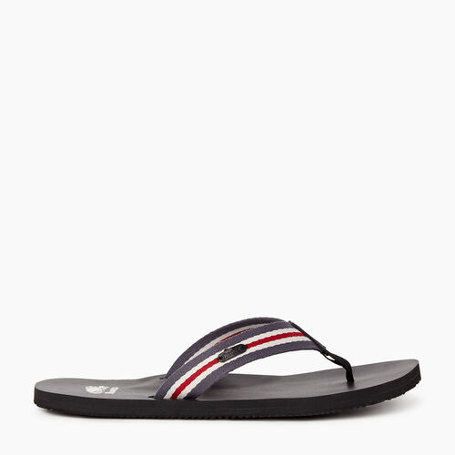 Roots-Footwear New Arrivals-Womens Smoke Lake Flip Flop-Black-A
