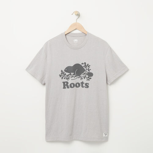 Roots-Men Graphic T-shirts-Mens Cooper Beaver T-shirt-Snowy Ice Pepper-A
