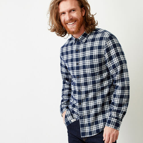 Roots-Clearance Tops-Harrison Flannel Shirt-Cascade Blue-A
