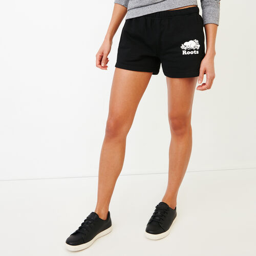 Roots-Women Shorts & Skirts-Original Sweatshort-Black-A