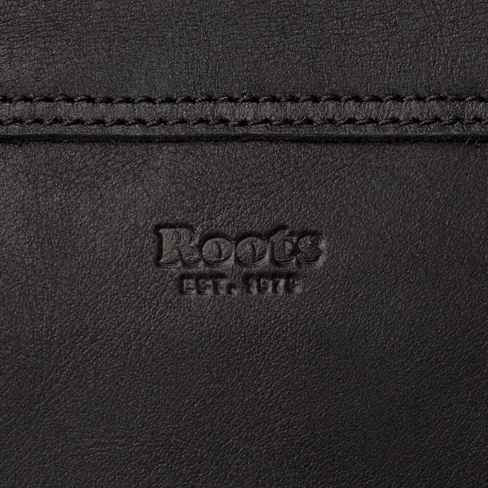 Roots-Leather  Handcrafted By Us Our Favourite New Arrivals-Small Journey Bag-Jet Black-E