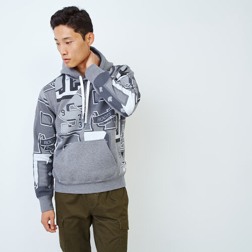 Roots-Clearance Men-Academy Remix Kanga Hoody-Medium Grey Mix-A